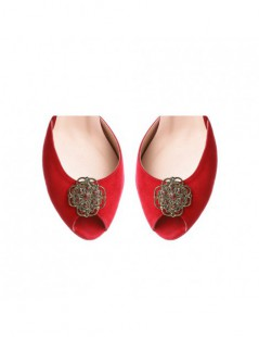 Sandale dama The 70's Red Piele Naturala - The5thelement.ro