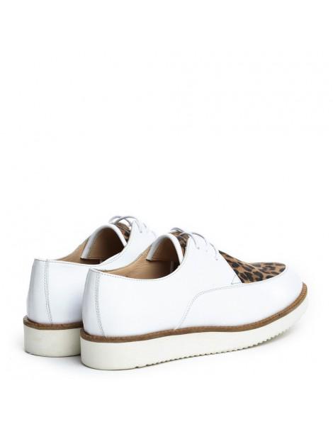 Pantofi dama Sport White din Piele Naturala - The5thelement.ro