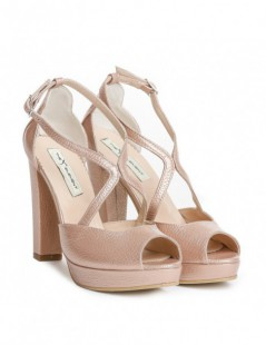Sandale dama Lady Like Rose Piele Naturala - The5thelement.ro