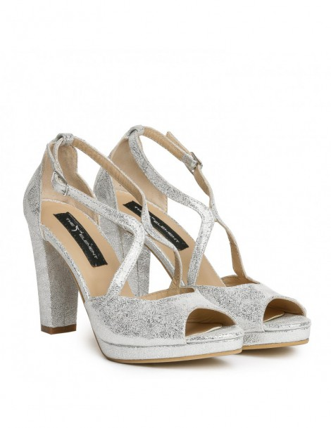 Sandale dama Lady Like Silver Piele Naturala - The5thelement.ro