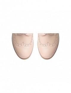 Pantofi dama Oxford Nude din Piele Naturala - The5thelement.ro