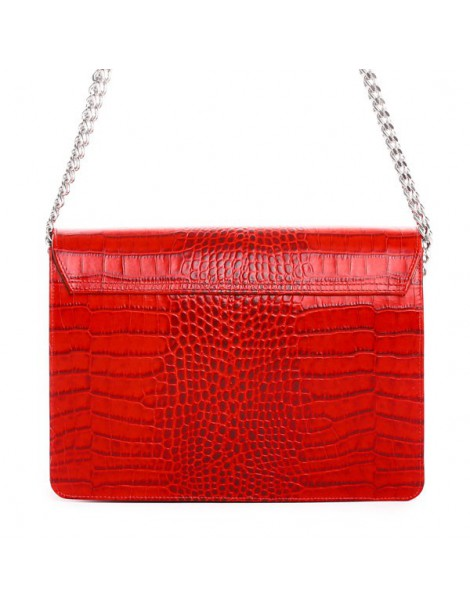 Geanta dama Piele Naturala Red Croc - The5thelement.ro