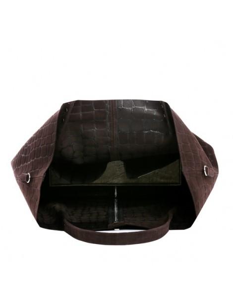 Geanta Piele Naturala Dama Shopper XL Maro Croco - The5thelement.ro