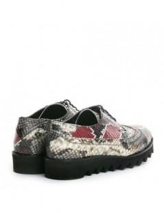 Pantofi dama Visiniu Snake din Piele Naturala - The5thelement.ro