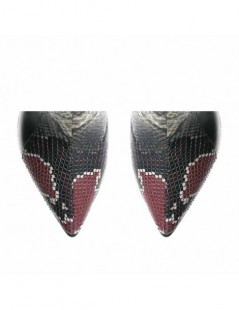 Botine dama Piele Naturala Negru Snake Alanna - The5thelement.ro