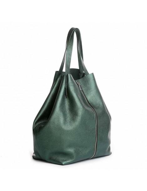 Geanta Dama Piele Naturala Verde Shopper XL - The5thelement.ro