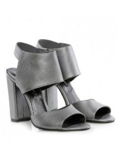 Sandale dama Titanium Grey Piele Naturala - The5thelement.ro