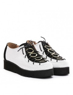 Pantofi dama Eclipse White din Piele Naturala - The5thelement.ro