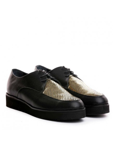 Pantofi dama Sport Negru din Piele Naturala - The5thelement.ro