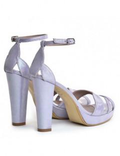 Sandale dama Mov Magnolia Piele Naturala - The5thelement.ro