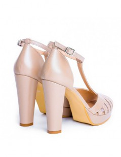 Sandale dama Rendez Vous Nude SIDEFAT Piele Naturala - The5thelement.ro