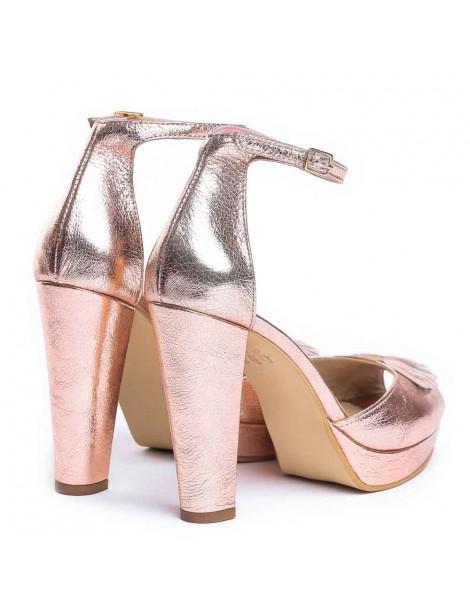 Pantofi dama The 70's Auriu Rose Piele Naturala - The5thelement.ro