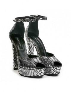 Pantofi dama The 70's Argintiu Snake Piele Naturala - The5thelement.ro