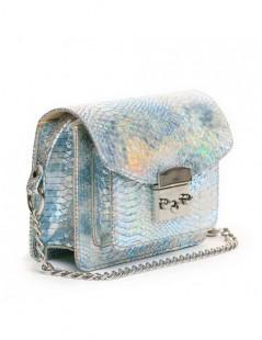 Geanta Piele Naturala Dama Urban Bag Bleu Snake - The5thelement.ro