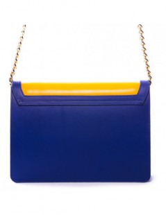 Geanta dama Piele Naturala Blue and Yellow - The5thelement.ro