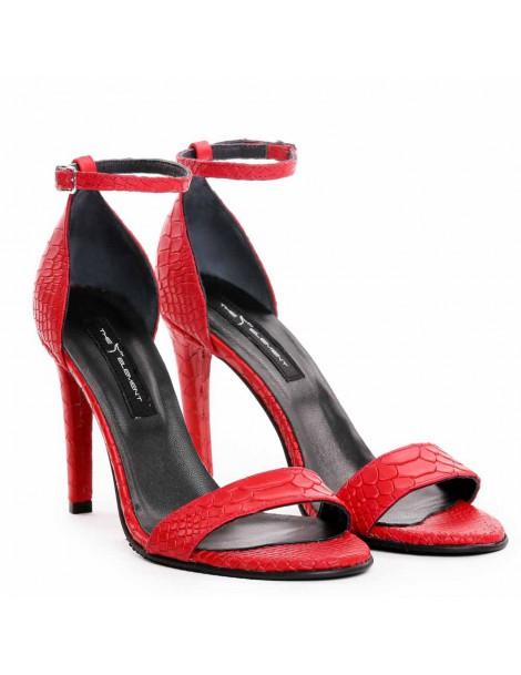 Sandale dama Piele Naturala Rosu Snake - The5thelement.ro
