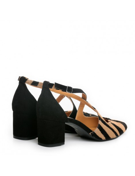Pantofi dama Piele Naturala Negru Zebra Mary - The5thelement.ro