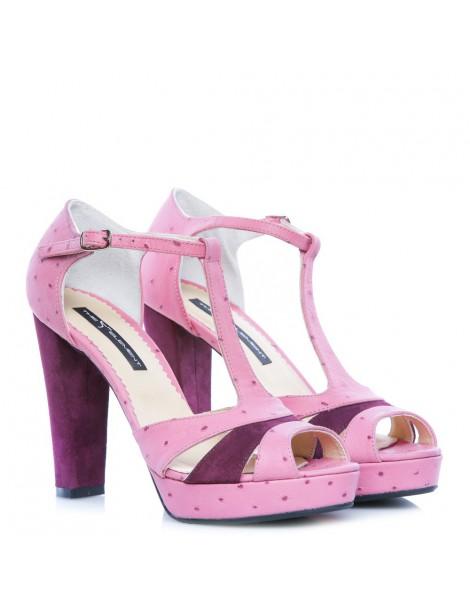 Sandale dama Candy Marsala Piele Naturala - The5thelement.ro