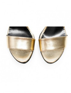 Sandale dama Disco Gold Piele Naturala - The5thelement.ro