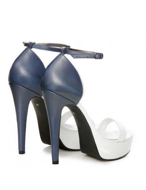 Sandale dama Disco White Piele Naturala - The5thelement.ro