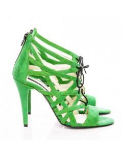 Sandale dama Cosmopolitan Light Green Piele Naturala - The5thelement.ro