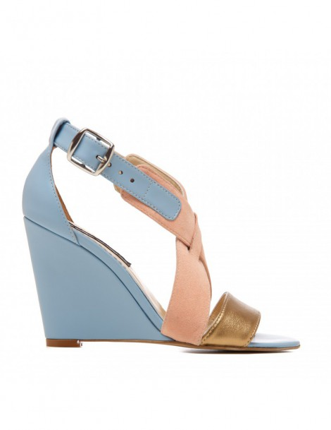 Sandale dama Glam Serenity Blue Piele Naturala - The5thelement.ro