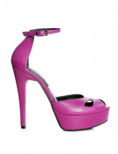 Sandale dama The 70's Purple Piele Naturala - The5thelement.ro