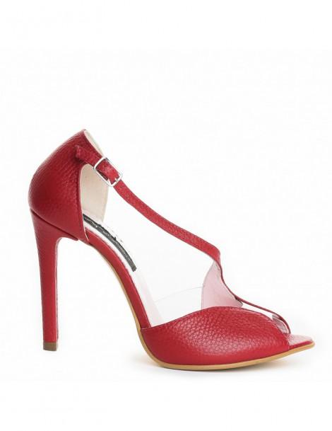 Sandale dama Muse Red Piele...