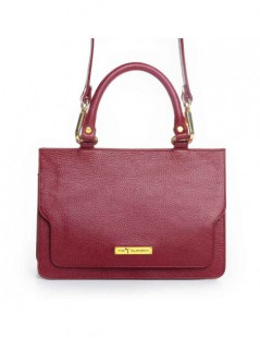 Geanta Piele Naturala Dama Lily Burgundy - The5thelement.ro
