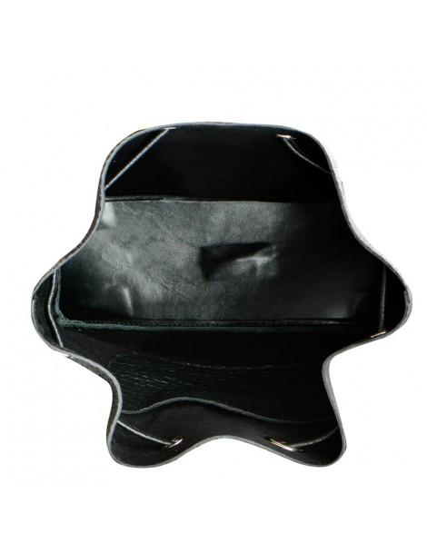 Geanta Dama Piele Naturala Negru Summer Bucket Bag - The5thelement.ro