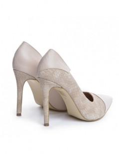 Pantofi Stiletto Piele Naturala Nude Selma - The5thelement.ro