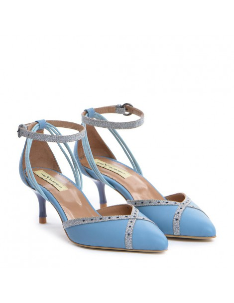 Pantofi Stiletto Piele Naturala Bleu Rihanna - The5thelement.ro
