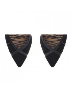 Pantofi Stiletto Piele Naturala Negru Rihanna - The5thelement.ro