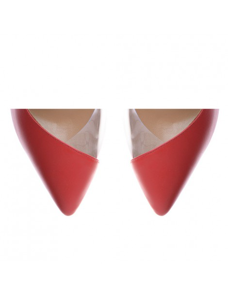 Pantofi dama Piele Naturala Rosu Leila - The5thelement.ro