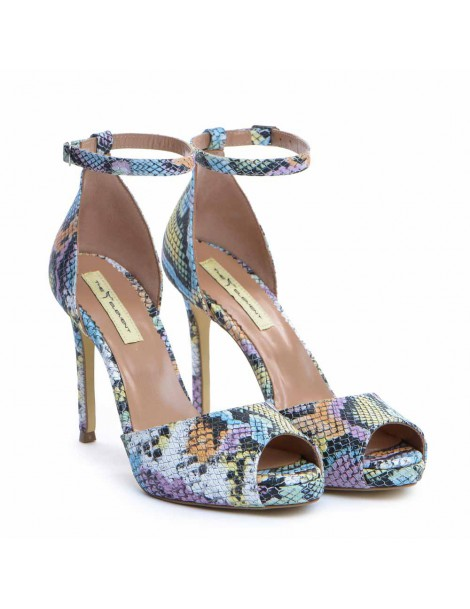 Sandale dama Piele Naturala Multicolor snake Barbie - The5thelement.ro
