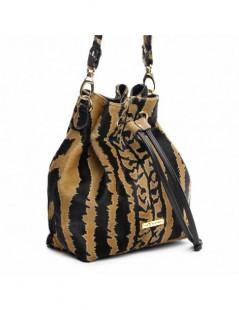 Geanta Dama Piele Naturala Summer Bucket Bag Tiger - The5thelement.ro