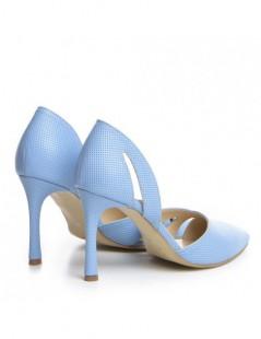 Pantofi Stiletto Piele Naturala Bleu Zaira - The5thelement.ro