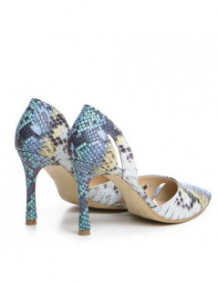 Pantofi Stiletto Piele Naturala Multicolor Zaira - The5thelement.ro