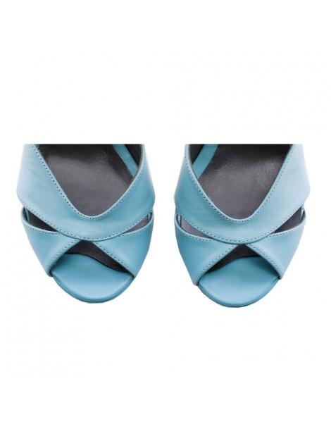 Sandale dama piele naturala Light Blue Hailey - The5thelement.ro