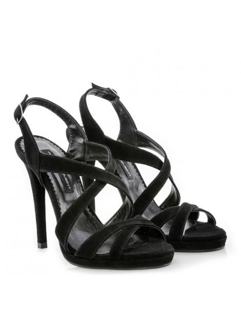 Sandale dama Singularity Black Piele Naturala - The5thelement.ro
